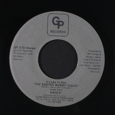 KRISTI: The Easter Bunny Disco / Disco Bunny 45 Hear! (funky electro-disco nove