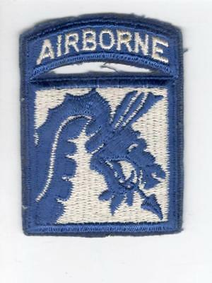 Cut Edge No Glow US Army 18th Airborne Corps Combat Patch Attached Tab Inv# V599