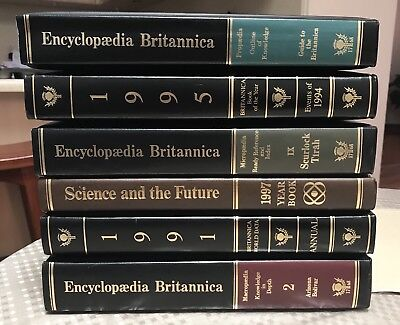 Encyclopaedia Britannica Set - 57 Books - Macropedia - Book Of The Year