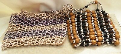 Two Vintage Papua New Guinea Bags 1 x beaded, 1 x shell PNG