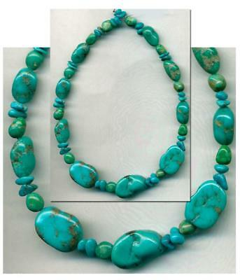 TURQUOISE  CAMPITOS Mine BEADS~Deep Blue 100% Natural Color 6-15mm Tucson 2018