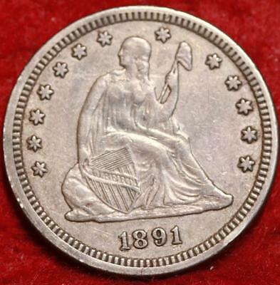 1891 Philadelphia Mint Silver Seated Liberty Quarter