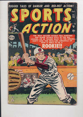 SPORTS ACTION #14 comic book/Atlas/from 1952/80% OFF OVERSTREET/Only $9.95!