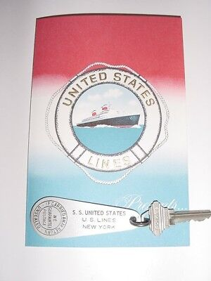 SS UNITED STATES LINES  Stateroom Key Tag...M-147  Top Condition
