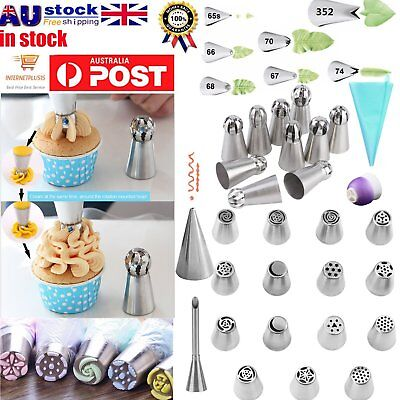 7/9/15/24/32/52Pcs DIY Russian Icing Piping Nozzle Cake Flower Decor Tips Tools@