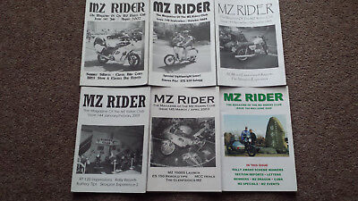 6x MZ Rider Magazines - Issues 141, 142, 143, 144, 145 & 164 OLD-VINTAGE