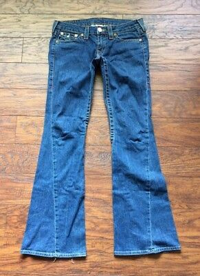 True Religion Joey Twisted Seam Bootcut Button Flap Pocket Jeans 28 x 33.5""