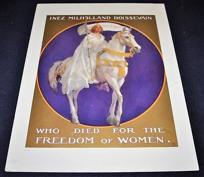 Vintage 1917-18 Women Suffrage Party Inez Milholland Votes for Women Poster