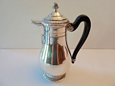 Silver Milk/chocolate/coffee Pot, Hinged Lid & Wood Handle, .833 Dutch Import