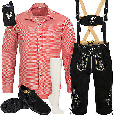 Traditional Costume Set Men's Trousers with Garb Carrier Shirt Bag