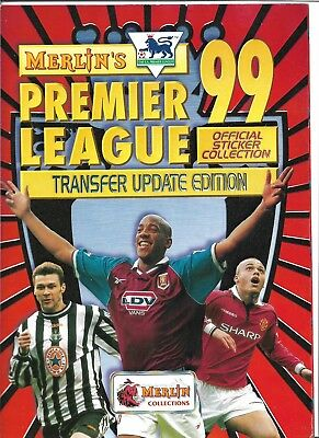 Merlin Premier League Update Edition Album 1999 With 43/67 Stickers
