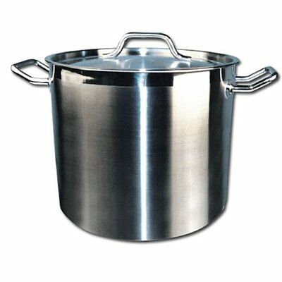 Winware By Winco Stainless Steel Stock Pot With Cover NEW!