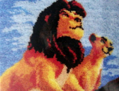 "Mcg Textiles Latch Hook Rug Making  Kit "" The  Lion King"" Size 27"" X 20"""