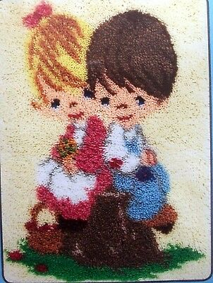 "Mcg Textiles   Latch Hook Rug  Kit ""love One Another"" Precious Moments"