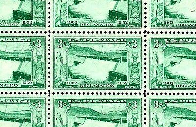 1952 - GRAND COULEE DAM - #1009 Full Mint -MNH- Sheet of 50 Postage Stamps