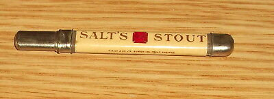Salts Brewery Pale Ale And Stout..laminated Advertising Pencil..mega Rare.
