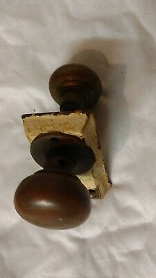 VINTAGE BRASS DOOR KNOBS With MECHANISM
