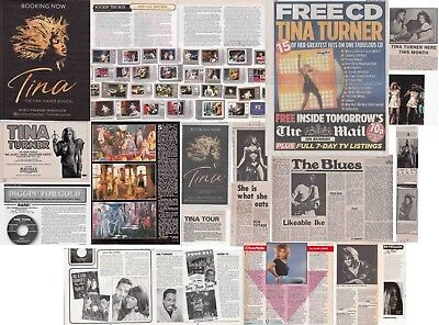TINA TURNER : CUTTINGS COLLECTION -adverts interview-