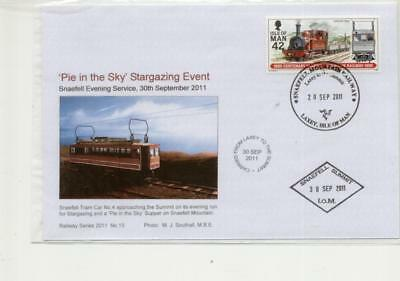 Isle of Man Railway Cover, 'Pie in the Sky' Stargazing Event,2011 with Snaefell