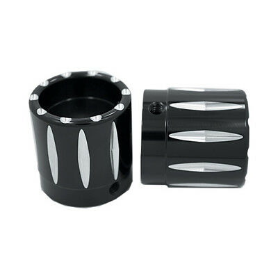 """Avon TOURING Motorcycle Axle Nut Covers (Pair) 1"""" Rival AXL-RIV-ANO"""