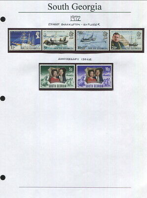 South Georgia On Album Pages 1972 To 2005-Mnh In Mounts!