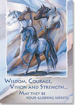 LEANIN TREE Guiding Spirits #31135 Magnet~Wisdom, Courage, Vision, Strength~