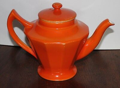 Hall Teapot 6 cup old orange teapot