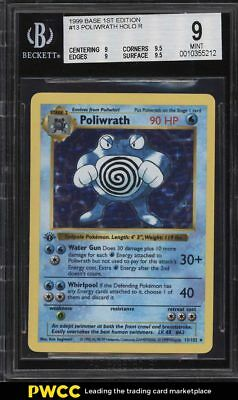 1999 Pokemon Game 1st Edition Holo Poliwrath #13 BGS 9 MINT (PWCC)