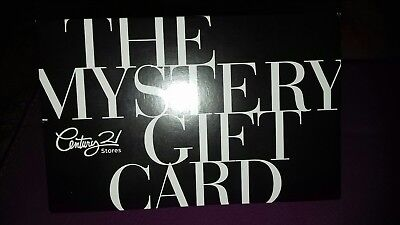 Century 21 stores mystery gift card unused New York City