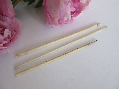 Antique Bovine Bone Crochet Hooks -  Early 19th Century