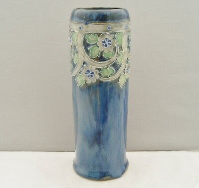 Royal Doulton Lambeth Art Nouveau Vase Applied Flowers Christine Abbot