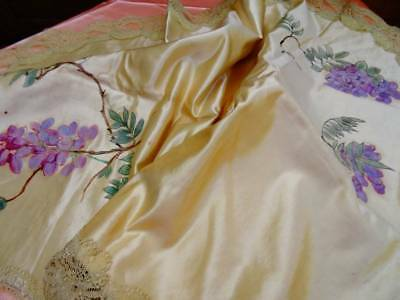 A Beautiful Victorian Hand Painted On Silk Altar Cloth C.1890