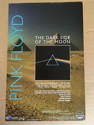 PINK FLOYD Rare 2004 PROMO POSTER of Classic Albums Dark Side DVD DOUBLE SIDED