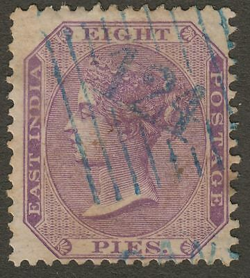 India used Aden 1873? QV 9p Used blue ADEN-CANTONMENT 124 Duplex Postmark KD7