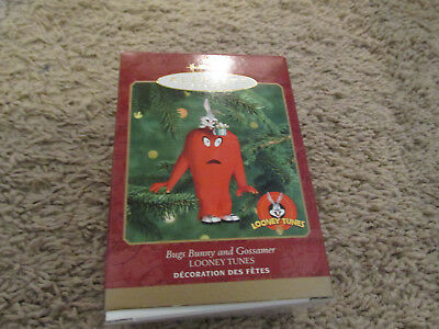 2000 BUGS BUNNY AND GOSSAMER NEW Hallmark Looney Tunes Ornament 1999 CARTOON