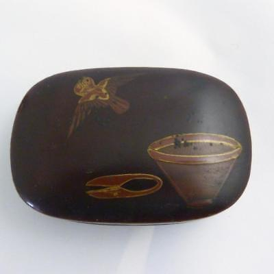 Japanese Lacquer Ware Incense Box And Cover, Edo Period
