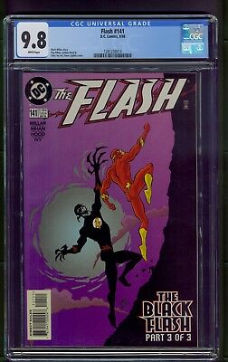 Flash #141 (1998) CGC Graded 9.8 ~ Black Flash Part 3 ~ DC Comics