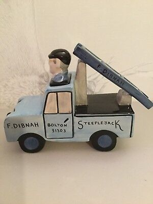 Lorna Bailey - Fred Dibnah MBE - Fred in his Landrover - Limited Edition 3 of 3