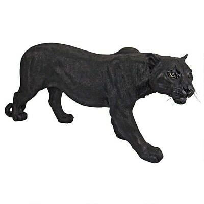Shadowed Predator Black Panther Hand Painted Design Toscano Exclusive Statue