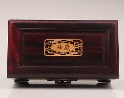 Sandalwood Jewelry Box Contains Interlayer Valuables Stored + Bronze Lock