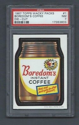Wacky Packages 1967 Die Cut # Boredom's Coffee Psa 7 Nm Beauty