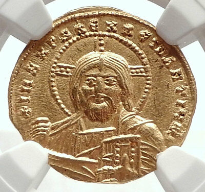 CONSTANTINE VII Authentic Ancient Byzantine GOLD Coin w JESUS CHRIST NGC i71690