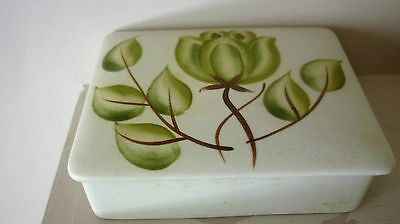 """Vintage E Radford Pretty Rectangular Shaped Lidded Ceramic Trinket Box."