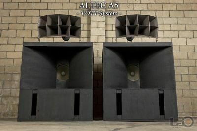 ALTEC A5 VOICE OF THE  (early RWB 515 288 N500C)PAIR (Worldwide Shipping)