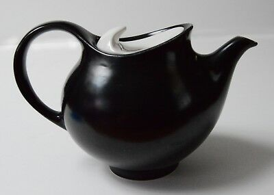 EVA ZEISEL Hallcraft Tomorrow's Classic black teapot Hall