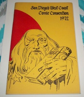 1972 San Diego West Coast Comic Con Program Jack Kirby Cover Hard to Find