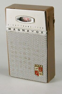 Magnavox Model AM-80 8Transistor Pocket Radio - tan - 1959