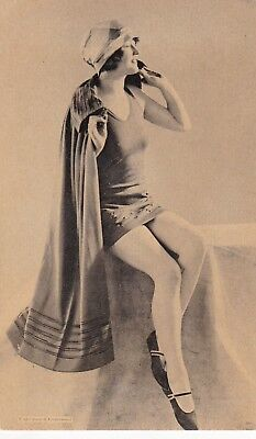 SHOWGIRL/flapper/DANCER/BATHING BEAUTY-1920s  PIN-UP/CHEESECAKE  photocard/ RARE