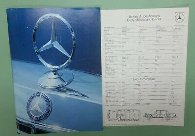 1973/1974 Mercedes-Benz full line brochure with specifications