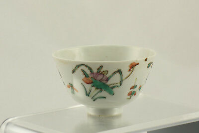 Antique Chinese Export Porcelain Tea Cup Saucer With Inkstamp